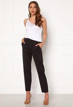Happy Holly Mathilda high waist tricot pants Black Bubbleroom.se