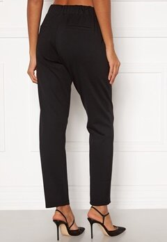 Happy Holly Mathilda high waist tricot pants Black Bubbleroom.se