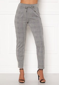 Happy Holly Mathilda high waist tricot pants Checked Bubbleroom.se