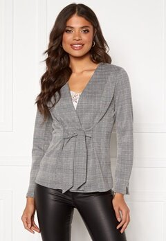 Happy Holly Mathilda tricot blazer Checked Bubbleroom.se