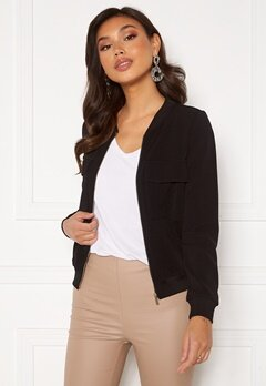 Happy Holly Maya pocket jacket Black Bubbleroom.se