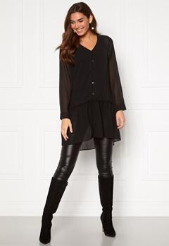 Happy Holly Maya woven tunic Black Bubbleroom.se