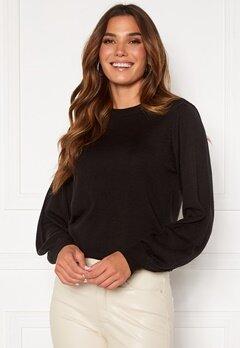 Happy Holly Melina sweater Black Bubbleroom.se