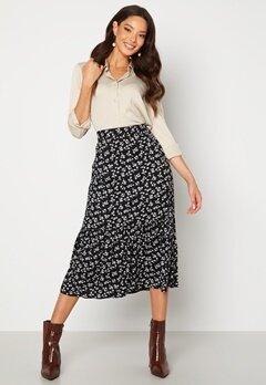 Happy Holly Melony skirt Black / Patterned Bubbleroom.se