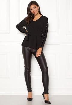 Happy Holly Michaela blouse Black Bubbleroom.se