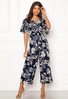 Happy Holly Michelle Jumpsuit Dark blue / Patterned Bubbleroom.se