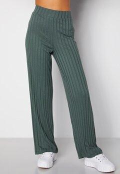 Happy Holly Mila wide pants Green Bubbleroom.se