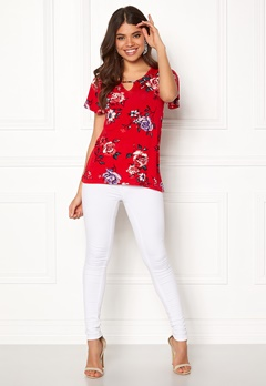 Happy Holly Milena top Red / Patterned Bubbleroom.se
