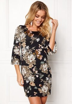 Happy Holly Milla dress Black / Patterned Bubbleroom.fi