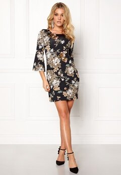 Happy Holly Milla dress Black / Patterned Bubbleroom.se