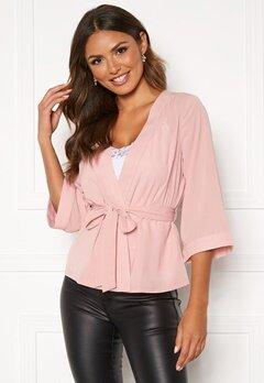 Happy Holly Milla kimono blouse Pink Bubbleroom.se