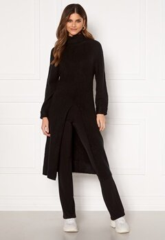 Happy Holly Milla long sweater Black Bubbleroom.se