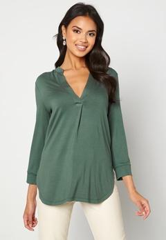 Happy Holly Milly 3/4 sleeve tunic Dusty green Bubbleroom.se