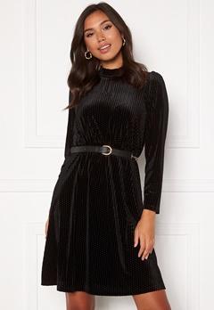 Happy Holly Milly velvet dress Black Bubbleroom.se
