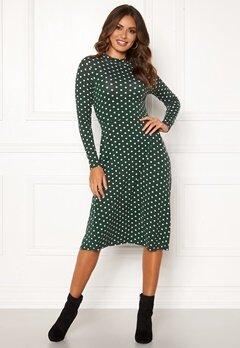 Happy Holly Miriana dress Dark green / Dotted Bubbleroom.se