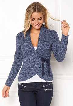 Happy Holly Mona cardigan Dusty blue Bubbleroom.se