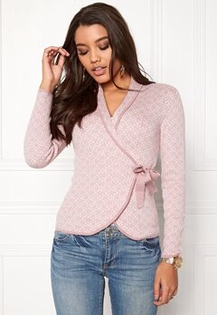 Happy Holly Mona cardigan Light pink / Offwhite Bubbleroom.fi