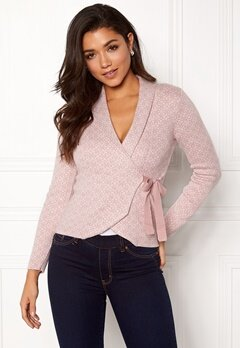 Happy Holly Mona cardigan Light pink Bubbleroom.se