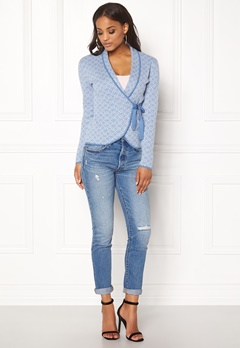 Happy Holly Mona Cardigan Light blue / Offwhite Bubbleroom.eu