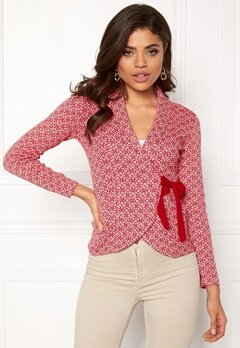 Happy Holly Mona cardigan Red / Offwhite Bubbleroom.fi