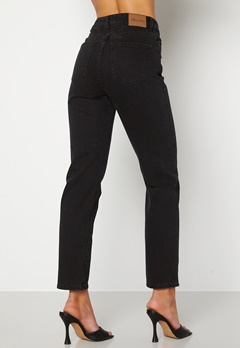 Happy Holly Natalie straight leg jeans Black denim Bubbleroom.se