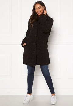 Happy Holly Nicole teddy coat Black Bubbleroom.se