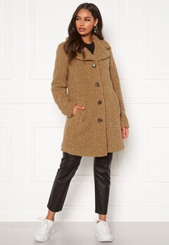 Happy Holly Nicole teddy coat Beige Bubbleroom.se