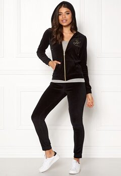 Happy Holly Nicole velour jacket Black Bubbleroom.se