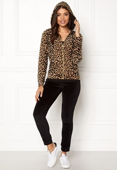 Happy Holly Nicole velour jacket Leopard Bubbleroom.se