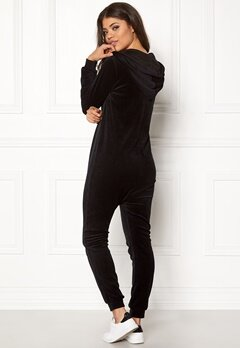 Happy Holly Nicole velour jumpsuit Black Bubbleroom.fi