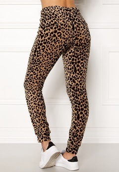 Happy Holly Nicole velour pants Leopard Bubbleroom.fi