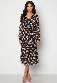 Happy Holly Ninni midi dress Black / Patterned bubbleroom.se