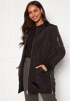 Happy Holly Noelle long bomber jacket Black Bubbleroom.se