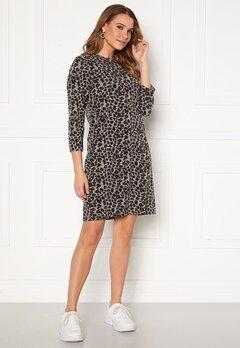 Happy Holly Nora cosy dress Leopard Bubbleroom.se
