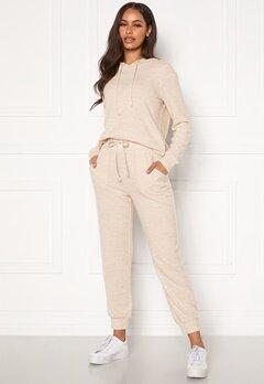 Happy Holly Nora cosy pants Light beige / Melange Bubbleroom.se