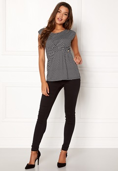 Happy Holly Nora top Black / Patterned Bubbleroom.fi