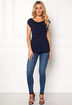 Happy Holly Nora top Dark navy Bubbleroom.fi