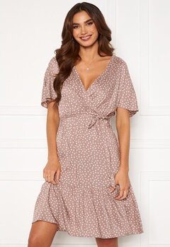 Happy Holly Olivia dress Dusty pink / Offwhite Bubbleroom.se