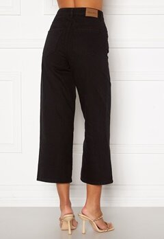 Happy Holly Pamela wide leg culotte jeans Black Bubbleroom.se