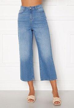 Happy Holly Pamela wide leg culotte jeans Medium denim Bubbleroom.se