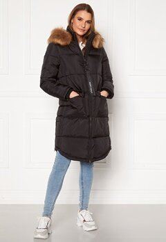 Happy Holly Patricia padded jacket Black Bubbleroom.se