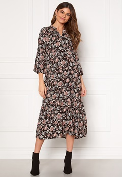 Happy Holly Paulina dress Black / Patterned Bubbleroom.se