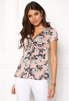 Happy Holly Paulina top Light pink / Patterned Bubbleroom.se