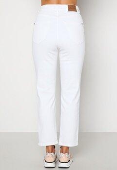 Happy Holly Peggy straight leg jeans White bubbleroom.se