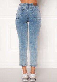 Happy Holly Peggy straight leg jeans Light denim Bubbleroom.se