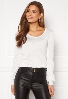 Happy Holly Pembe sweater White Bubbleroom.se