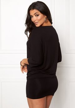 Happy Holly Perla cuff tunic Black Bubbleroom.fi