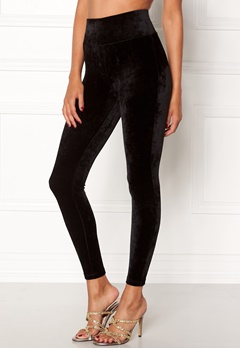 Happy Holly Reese velour pants Black Bubbleroom.eu