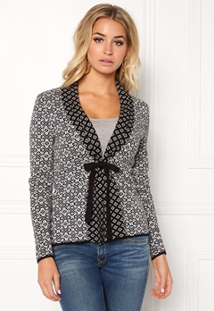 Happy Holly Regina cardigan Black / Offwhite Bubbleroom.no