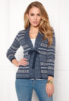 Happy Holly Regina cardigan Blue / Blue Bubbleroom.se